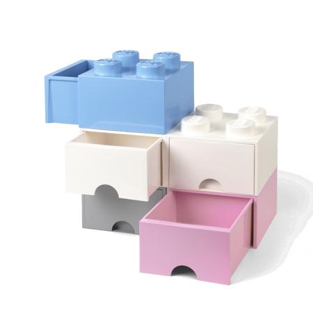 Slika za Lego® Kutija za pohranjivanje s ladicama 4 White