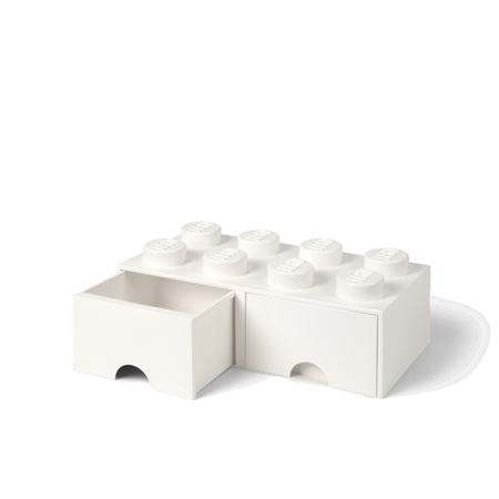 Slika za Lego® Kutija za pohranjivanje s ladicama 8 White