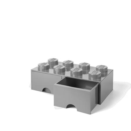 Lego® Kutija za pohranjivanje s ladicama 8 Medium Stone Grey
