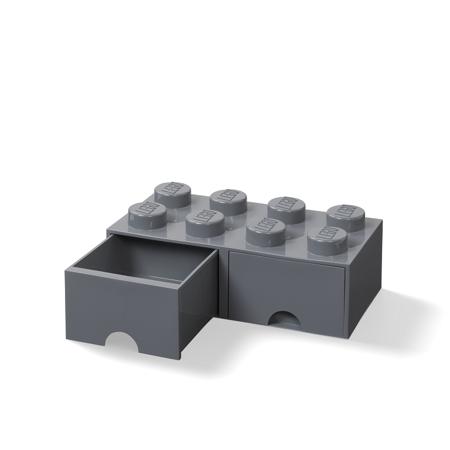 Lego® Kutija za pohranjivanje s ladicama 8 Dark Grey