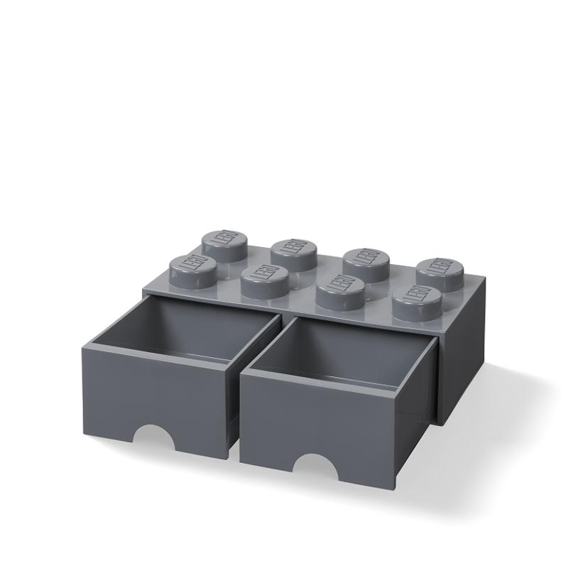 Slika za Lego® Kutija za pohranjivanje s ladicama 8 Dark Grey