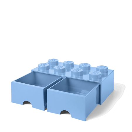 Slika za Lego® Kutija za pohranjivanje s ladicama 8 Light Royal Blue