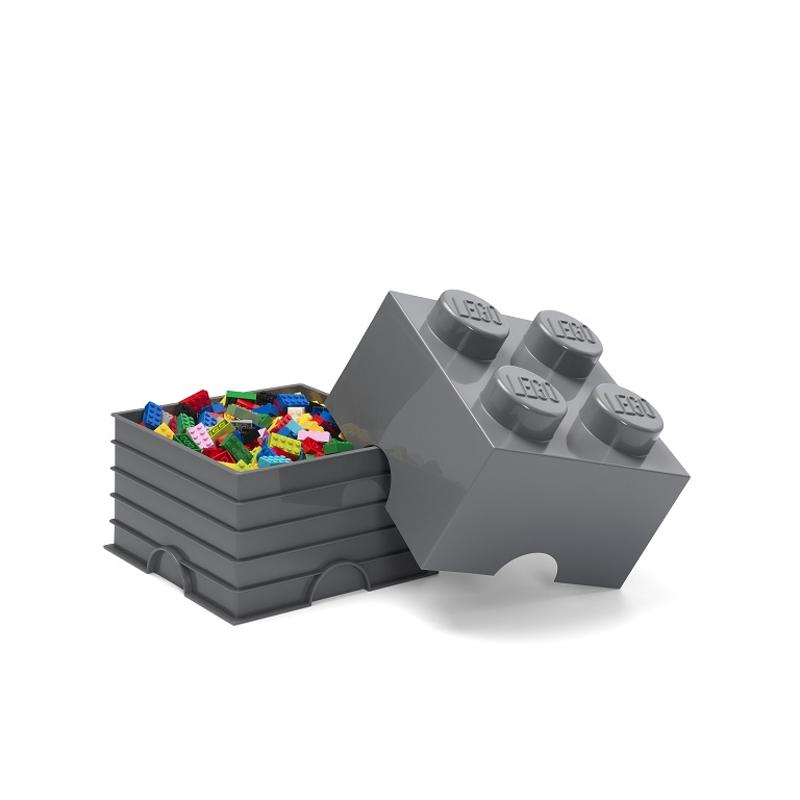 Slika za Lego® Kutija za pohranjivanje 4 Dark Grey