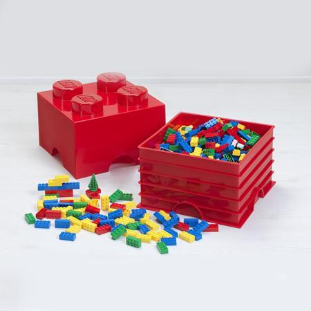 Lego® Kutija s ladicom za pohranjivanje 4 Aqua