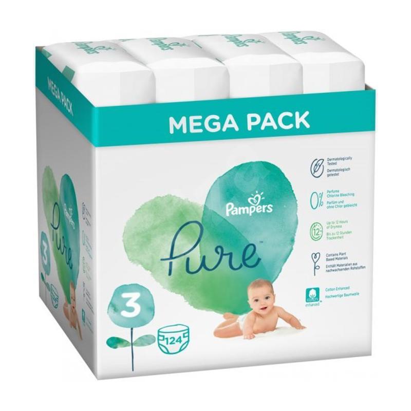 Slika za Pampers® Pleničke Pampers Pure Protection Megabox Vel. 3 (6-10 kg) 4x31 kosov