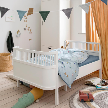 Sebra® Dječji krevetić Sebra Junior & Grow Classic White