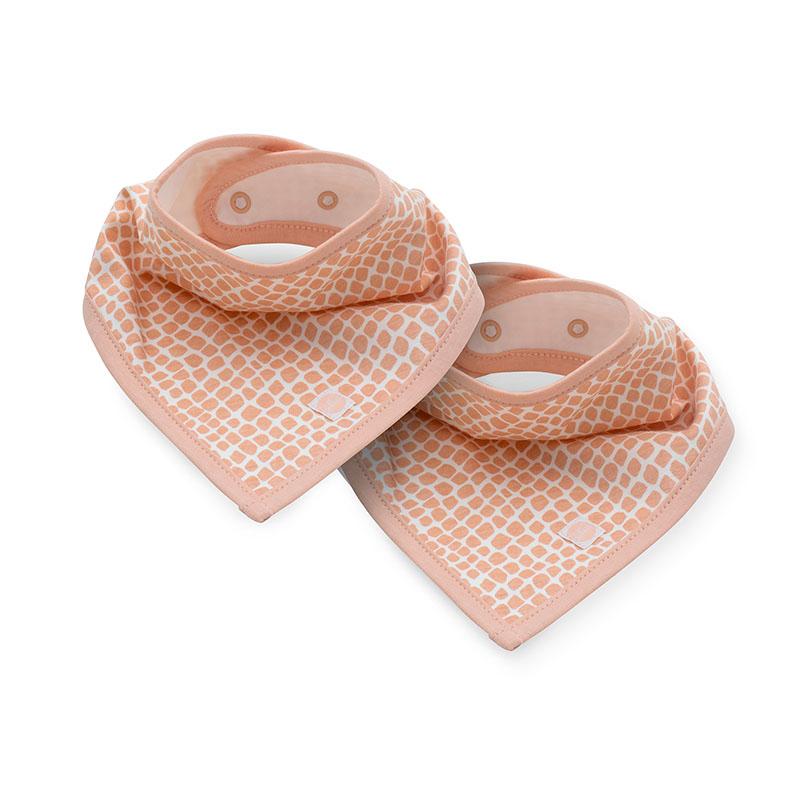 Slika za Jollein® Pamučni podbradnjak Snake Pale Pink 2 komada