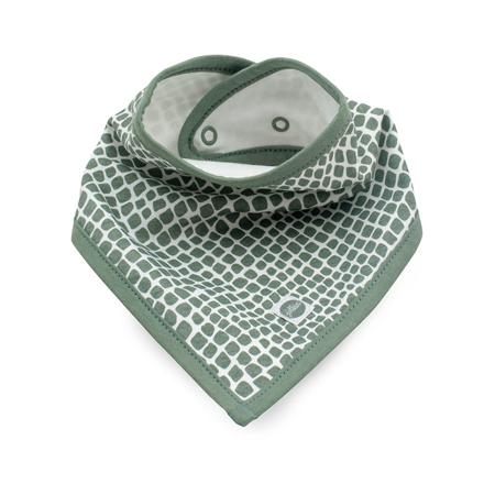 Jollein® Pamučni podbradnjak Snake Ash Green 2 komada