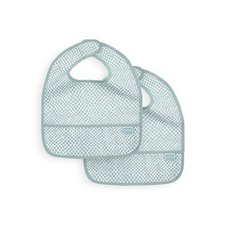 Slika za Jollein® Vodootporan podbradnjak Snake Soft Green 2 komada