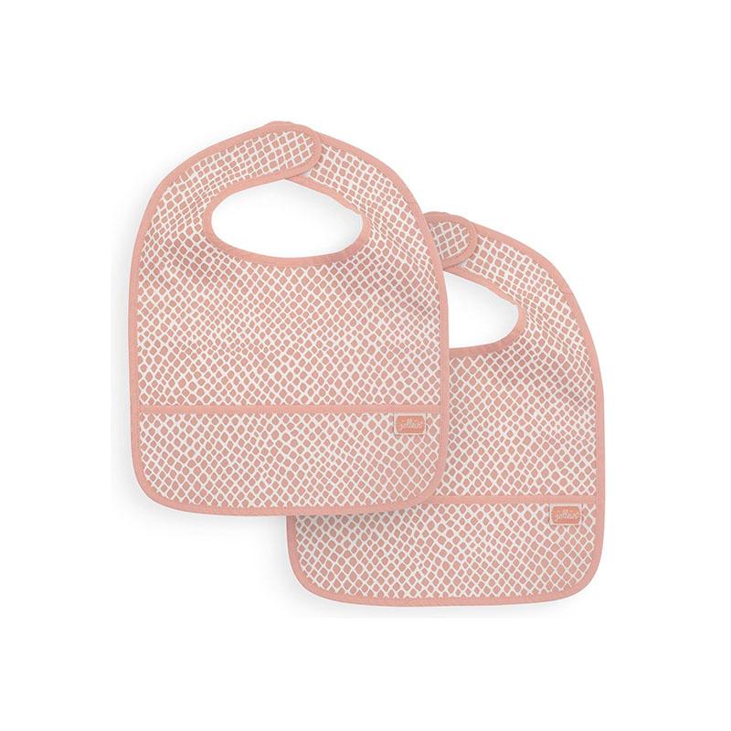 Slika za Jollein® Vodootporan podbradnjak Snake Pale Pink 2 komada