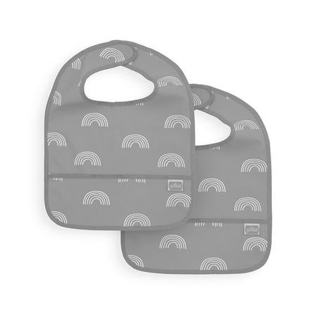 Slika za Jollein® Vodootporan podbradnjak Rainbow Grey 2 komada