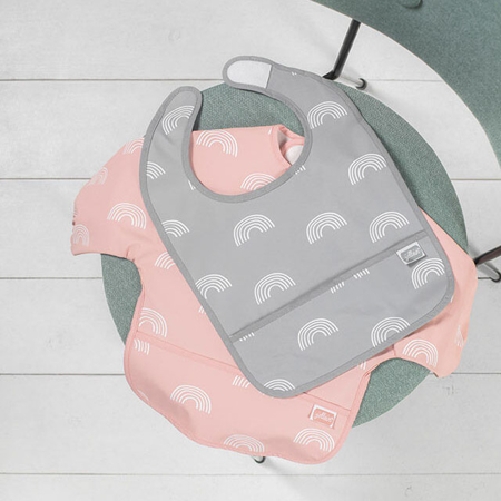 Slika za Jollein® Podbradnjak s rukavima  Rainbow Grey