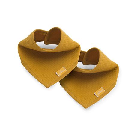 Slika za Jollein® Pamućni podbradnjak Brick Velvet Mustard 2 kosa