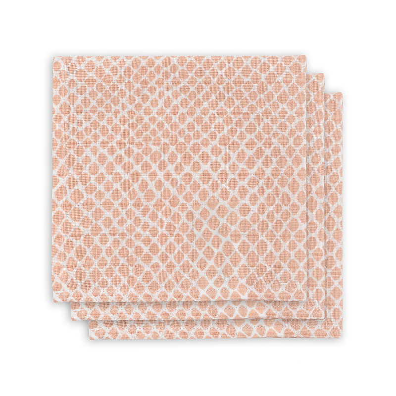 Slika za Jollein® Komplet 3 tetra pelene Snake Pale Pink 31x31