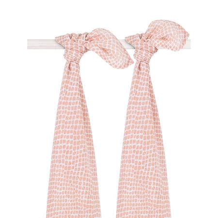 Jollein® Komplet 2 tetra pelene Snake Pale Pink 115x115