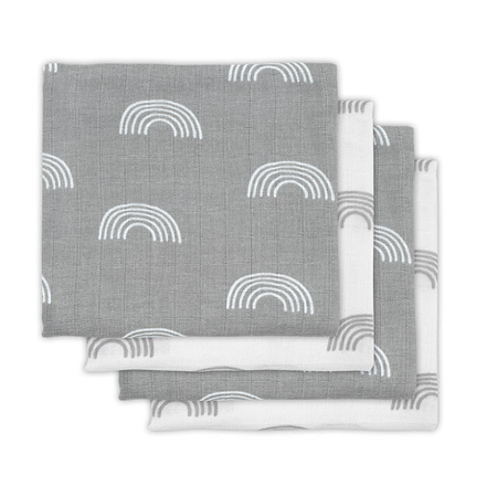 Slika za Jollein® Komplet 4 tetra pelene Rainbow Grey 70x70