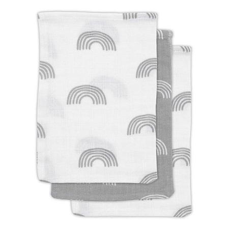Slika za Jollein® Komplet 3 krpice za umivanje Rainbow Grey 21x15