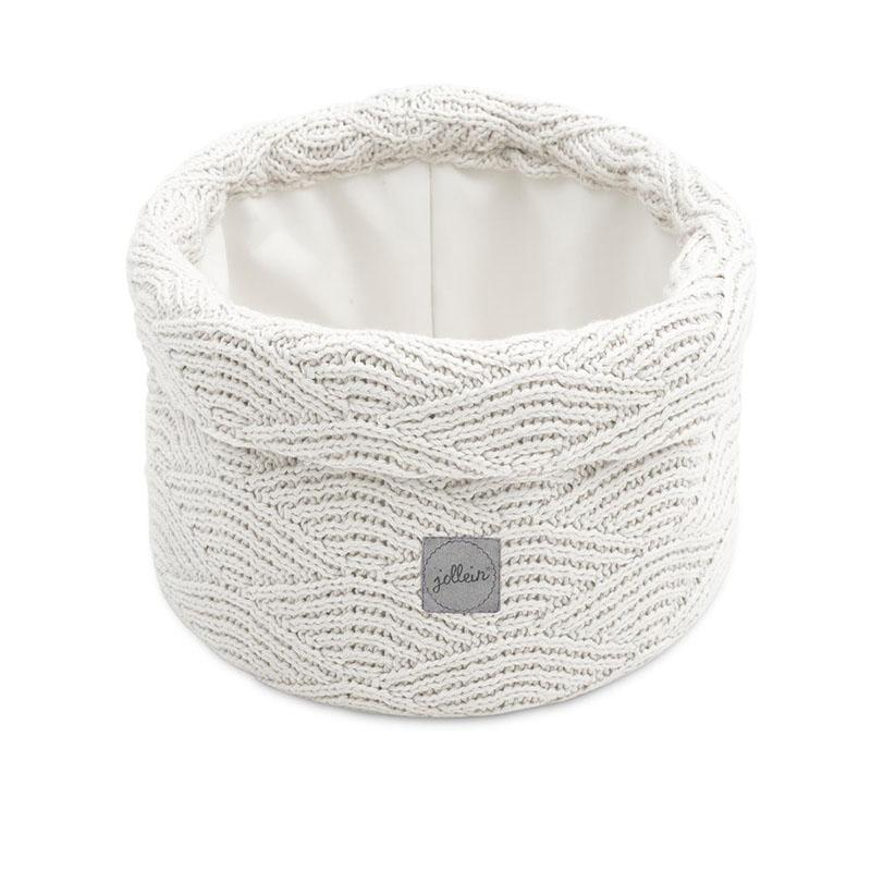 Slika za Jollein® Košara za pohranjivanje stvarčica River Knit Cream White