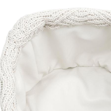 Jollein® Košara za pohranjivanje stvarčica River Knit Cream White