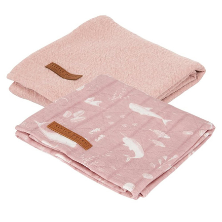 Slika za Little Dutch® Komplet 2 tetra pelene Ocean Pink 70x70