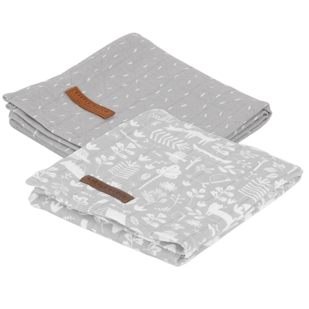 Slika za Little Dutch® Komplet 2 tetra pelene Adventure Grey 70x70