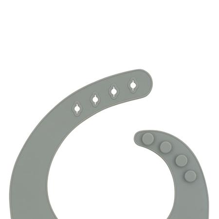 Jollein® Silikonski podbradnjak Storm Grey