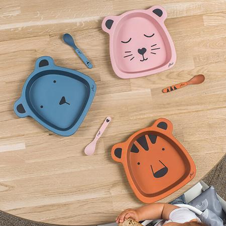 Slika za Jollein® Set za hranjenje Animal Club Rust