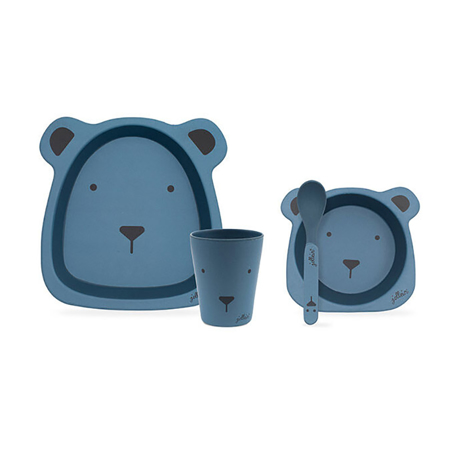 Slika za Jollein® Set za hranjenje Animal Club Steel Blue
