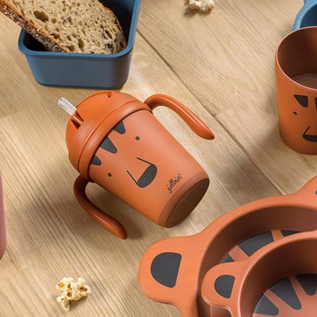 Slika za Jollein® Bočica sa slamico od bambusa Animal Club Rust