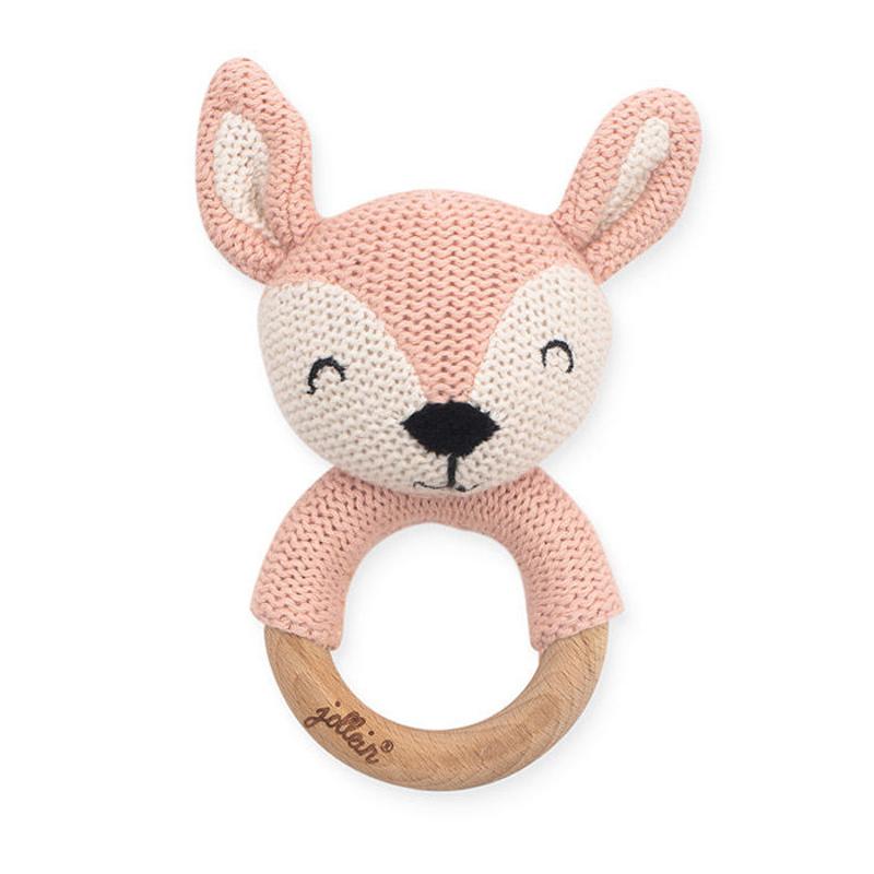 Slika za Jollein® Drveno grizalo Deer Pale Pink