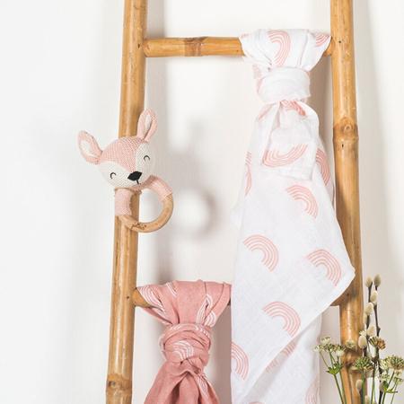 Jollein® Drveno grizalo Deer Pale Pink