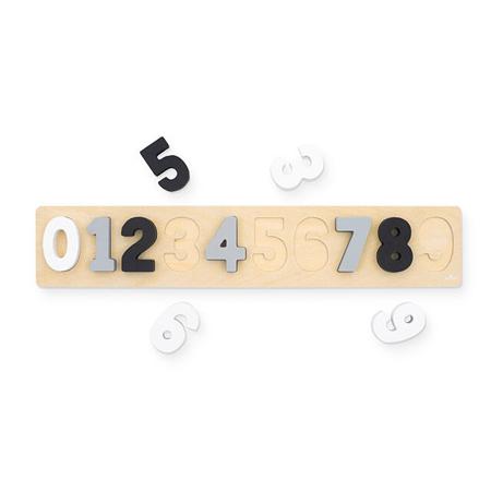 Slika za Jollein® Drvena slagalica s brojevima Grey/White
