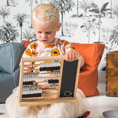 Jollein® Dječje drveno računalo Black/Grey