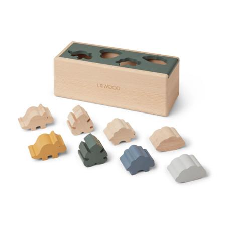Liewood® Drvena kutija Puzzle Box Dino Mix
