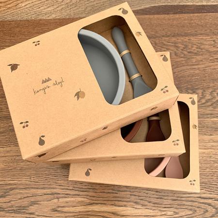 Slika za Konges Sløjd® Silikonski set za hranjenje Light Blue