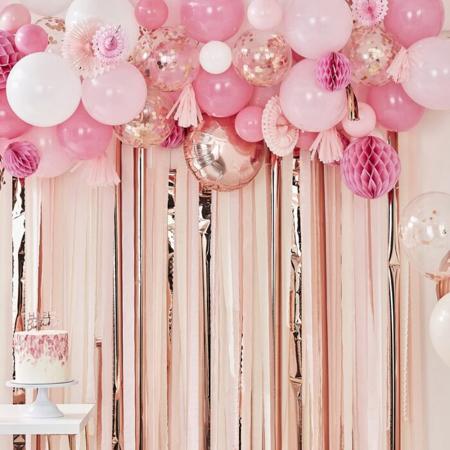Slika za Ginger Ray® Ozadje za fotografiranje z baloni Blush & Peach
