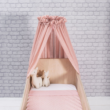 Jollein® Posteljni baldahin Vintage Blush Pink