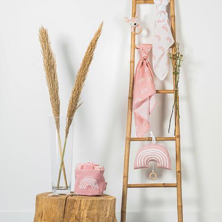 Slika za Jollein® Košara za pohranjivanje Canvas Rainbow Blush Pink