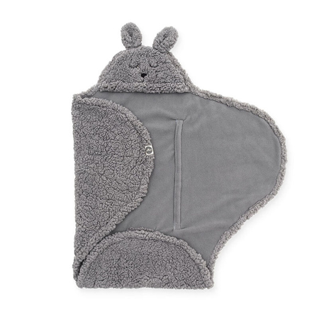 Jollein® Dekica za novorođenče Bunny Storm Grey 105x100