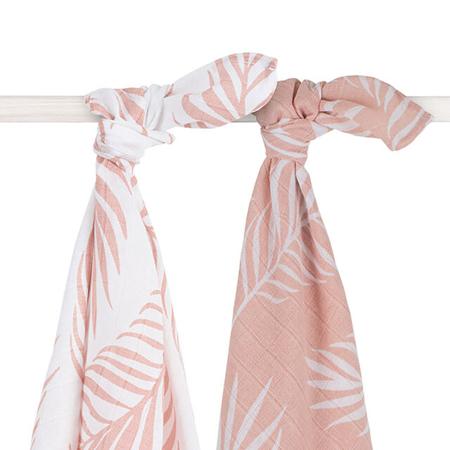 Slika za Jollein® Komplet 2 tetra pelene Nature Pale Pink 115x115