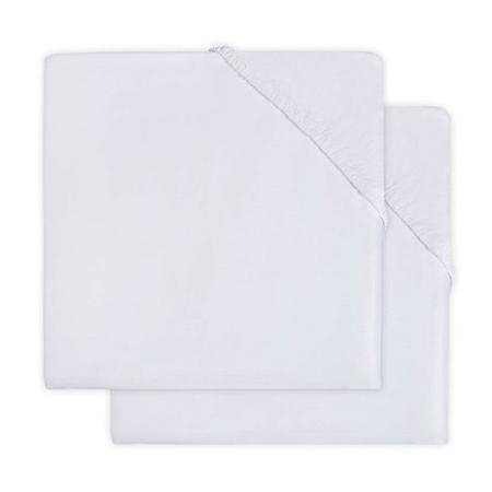 Jollein® Pamučna plahta White 2 komada 140x70/150x75