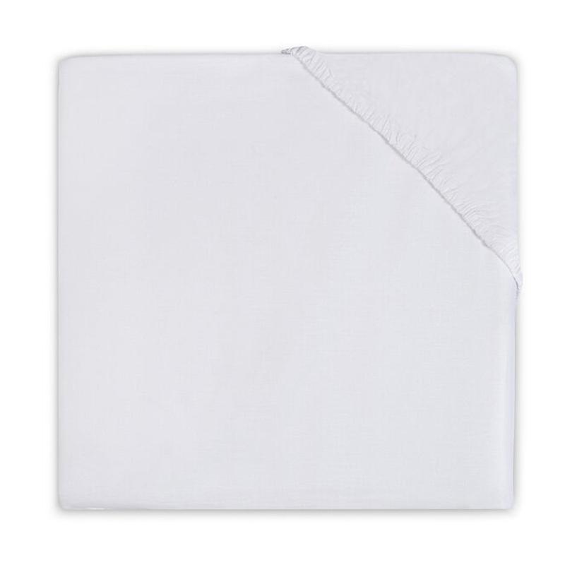 Slika za Jollein® Pamučna plahta White 140x70/150x75