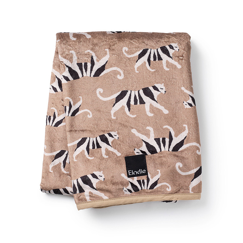 Slika za Elodie Details®  Baršunasta dekica White Tiger Warm Sand 75x100