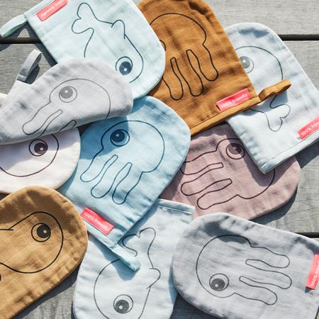Done by Deer® Komplet dvi rukavice za umivanje Grey