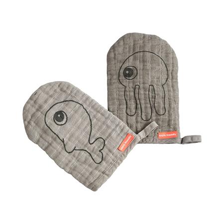 Slika za Done by Deer® Komplet dvi rukavice za umivanje Grey