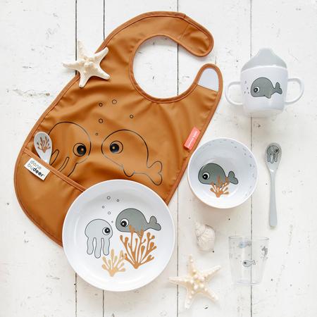 Done by Deer® Yummy mini zdjelica Sea friends Mustard/Grey