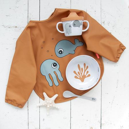 Slika za Done by Deer® Prvi set za jelo Sea friends Mustard/Grey