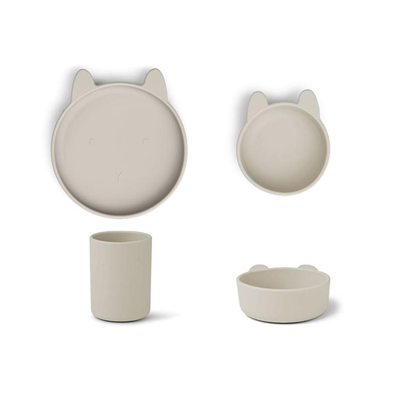 Slika za Liewood® Set za jelo od silikona Cyrus Junior Rabbit Sandy