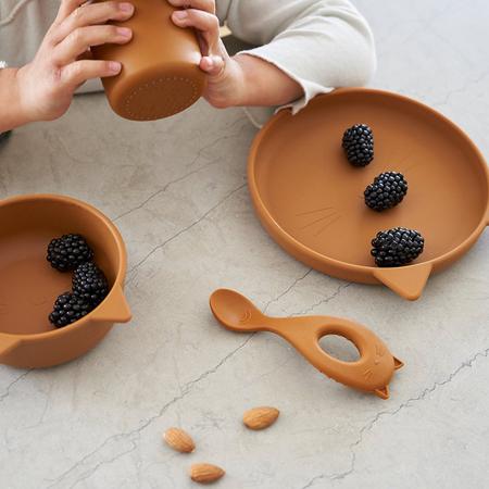 Liewood® Set za jelo od silikona Vivi Rabbit Sandy
