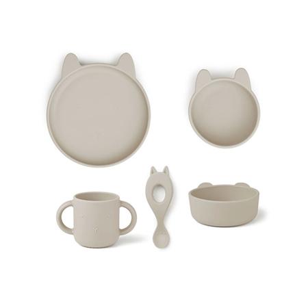 Slika za Liewood® Set za jelo od silikona Vivi Rabbit Sandy
